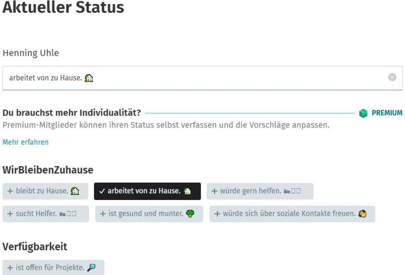 Einen individuellen Status-Eintrag kann ich bei XING nur verfassen, wenn ich Geld einwerfe
