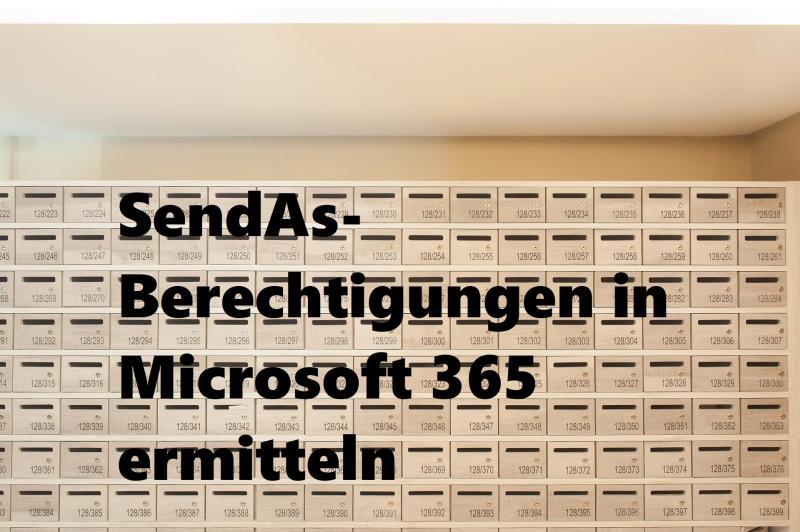 SendAs-Berechtigungen in Microsoft 365 ermitteln - (C) SookyungAn - Pixabay-Lizenz - via Pixabay.com