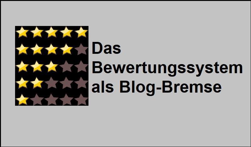 Das Bewertungssystem als Blog-Bremse - Bild von OpenClipart-Vectors auf Pixabay