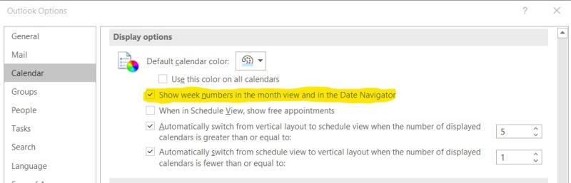 Mit einem Outlook-Helferlein die Kalenderwoche anzeigen