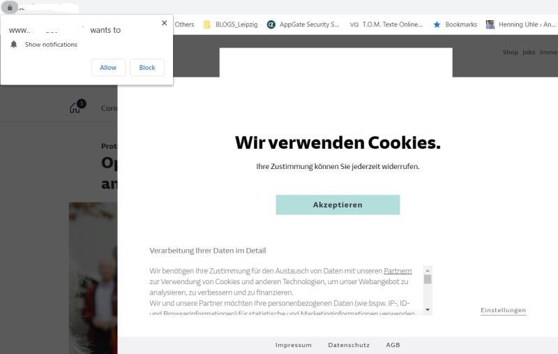 Die Cookie-Hölle einer großen Zeitung