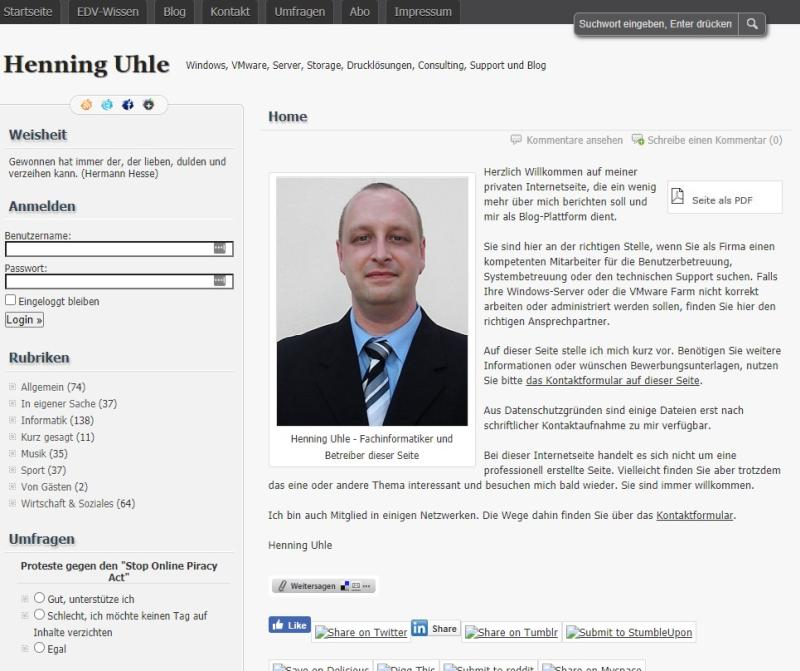 Blog oder Schrott? Meine Seite 2012