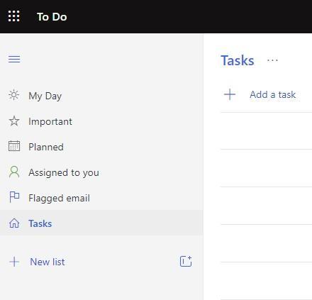 Überblick über die Aufgaben in Microsoft To-Do