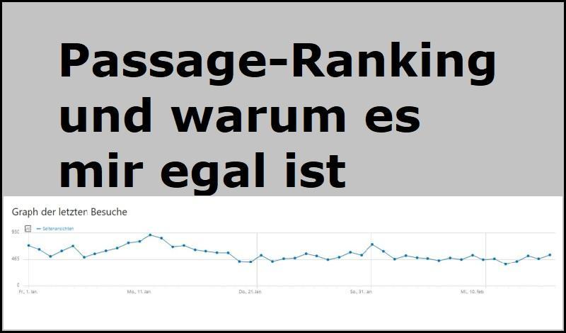 Passage-Ranking und warum es mir egal ist