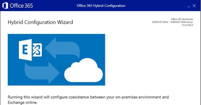 Exchange HCW: Und wieder ein Problem? - Screenshot vom Exchange Hybrid Configuration Wizard