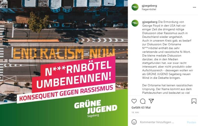Sind das grüne Ideen? - Screenshot von Instagram