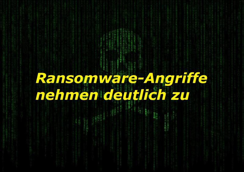 Ransomware-Angriffe nehmen deutlich zu - Bild von Tumisu auf Pixabay