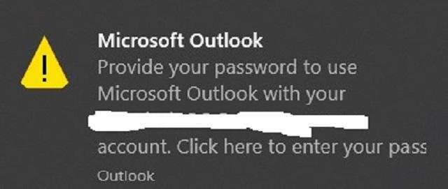 Die Anmeldedaten in Outlook kaputt?