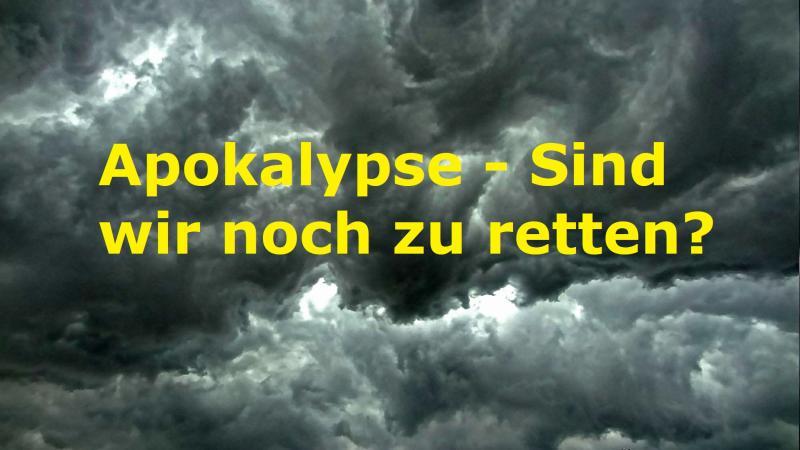 Apokalypse - Sind wir noch zu retten? - Bild von Jan Mallander auf Pixabay