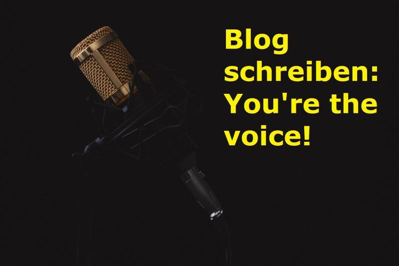 Blog schreiben: You're the voice! - Bild von Hrayr Movsisyan auf Pixabay