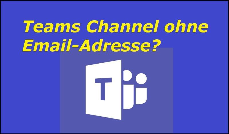 Teams Channel ohne Email-Adresse? - Microsoft, CC BY-SA 4.0 , via Wikimedia Commons